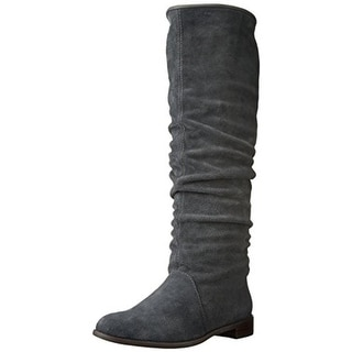All Black Womens Riding Boots Suede Knee-High - 37.5 medium(b,m)