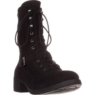 AR35 Reighn Lace-up Combat Boots, Black
