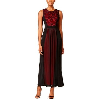 Connected Apparel Womens Petites Evening Dress Chiffon Lace