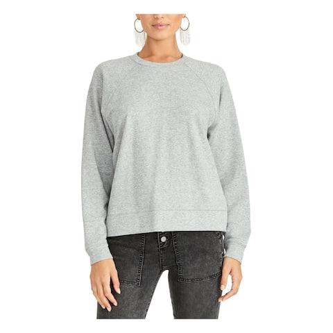 RACHEL ROY Womens Gray Eyelet Long Sleeve Crew Neck Sweater Size XL