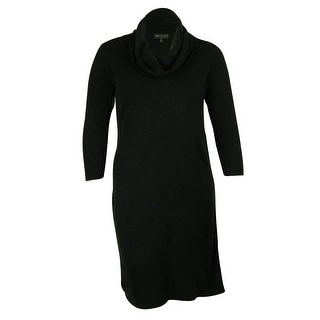 Connected Women's Cowlneck Sweater Dress - 1x