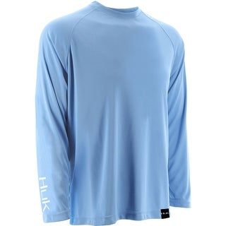 Huk Men's LoPro Raglan Carolina Blue Medium Performance Long Sleeve Shirt