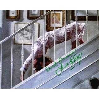 Linda Blair The Exorcist Regan Spider Walk 8x10 Photo wSweet Dreams In Green Ink