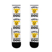 Yoga? I'm Down Dog US Size 7-13 Socks by LookHUMAN