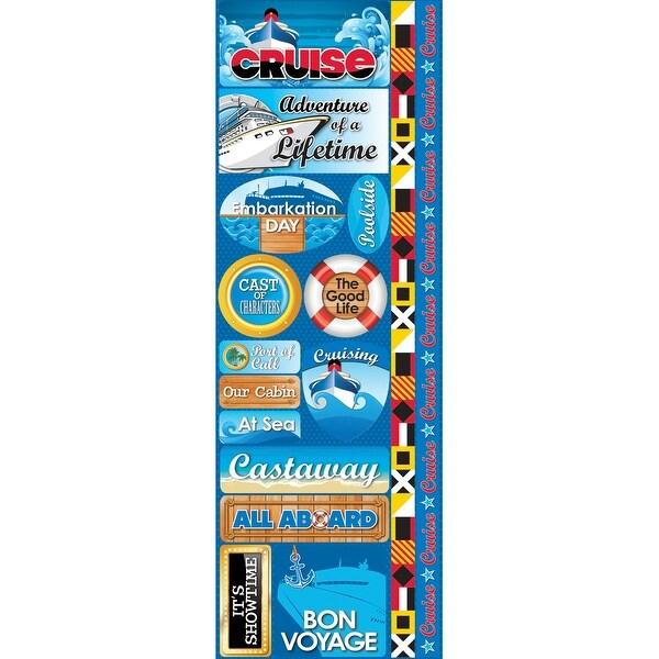 "Signature Series Cardstock Combo Sticker 4.25""X12""-Cruise"