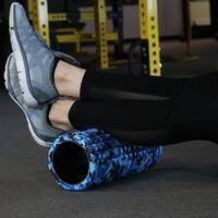 CASL Brands Blue Camo Foam Fitness Cool Down Roller for Releasing Muscle Tension