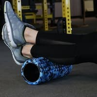CASL Brands Blue Camo Foam Roller for Releasing Muscle Tension