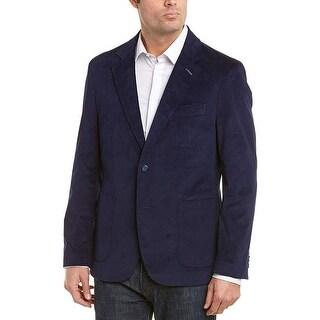 TailorByrd Mens Slim Fit Velvet Sportcoat 40 Short Navy