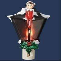 """6"""" Elf on the Shelf Sitting Atop a Lamp Post Holiday Night Light"""