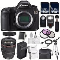 Canon EOS 5DS DSLR Camera (International Model) 0581C002 + Canon EF 24-105mm f/4L IS USM Lens Bundle
