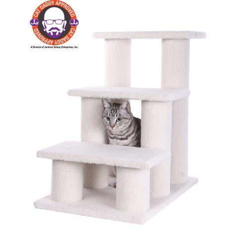 Armarkat White Pet Steps - Medium