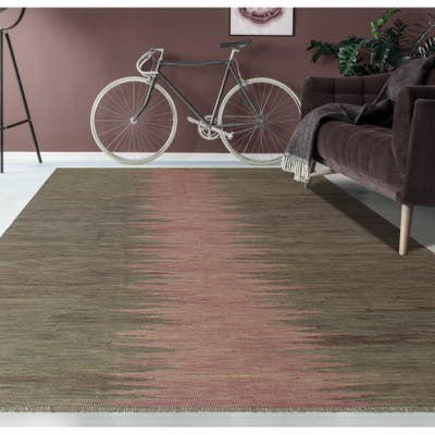 """Hand-Woven Winchester Kilim Earle Purple/Pink Rug - 8'0"""" x 10'0"""""""