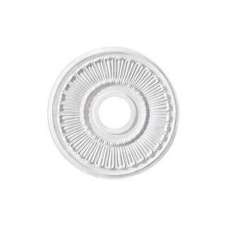 """Canarm FM-37 Contempra Ceiling Medallion With 3-5/8"""" Center Opening - White - N/A"""