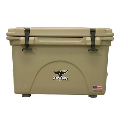 ORCA ORCT040 Durable Roto-Molded Cooler, Tan, 40 Qt Capacity