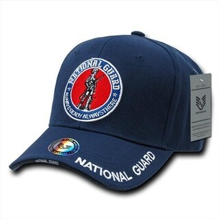 Deluxe Military Baseball Caps, National Guard, Navy