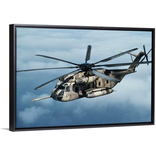Shop Floating Frame Premium Canvas With Black Frame Entitled Us
