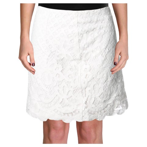 Free People Womens Mini Skirt Lace Overlay Floral Pattern