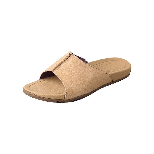 Twisted X Casual Shoes Womens Red Buckle Slip On Slides Nude