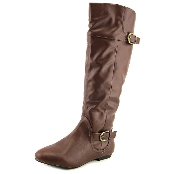 Tender Tootsies Jewel Women Round Toe Synthetic Brown Knee High Boot