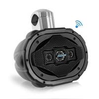 6'' x 9'' Bluetooth Marine Wakeboard Speaker, Water Resistant 4-Way Tower Speaker, 1200 Watt (Black)