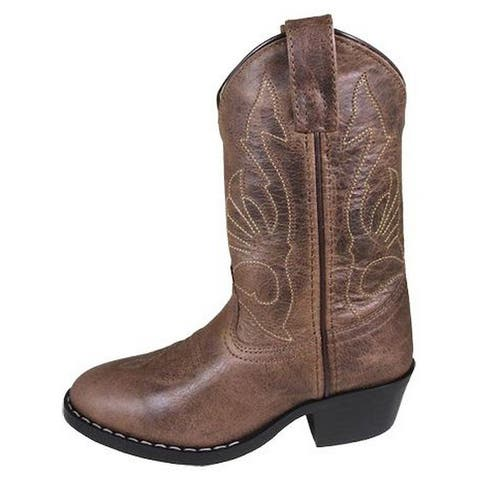 Smoky Mountain Western Boots Boys Nashville Leather Brown