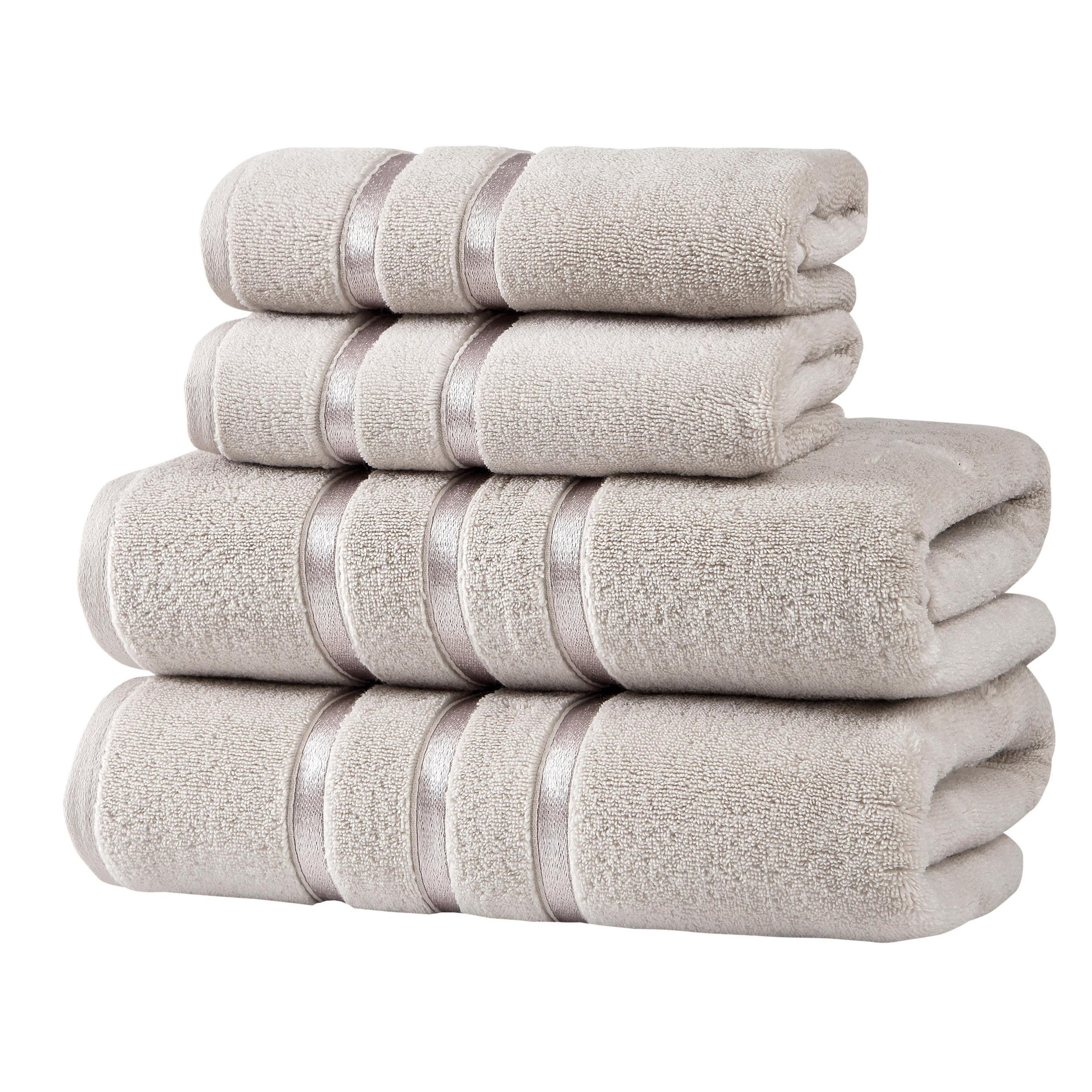 Indulge Linen 100 Turkish Cotton Towel Set Beige Bath Towels Set Of 4 Home Kitchen Bath