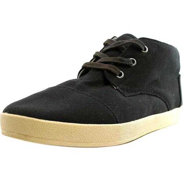 ffae6bcdd59 Shop Toms Paseo Mid Men Round Toe Canvas Black Chukka Boot - Free ...
