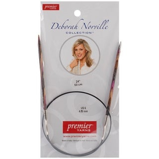 Size 6/4Mm - Deborah Norville Fixed Circular Knitting Needles 24""
