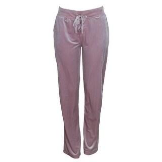 Material Girl Juniors Shimmer Pink Velour Lounge Pants L