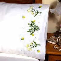 """Buttercups - Stamped Pillowcase Pair For Embroidery 20""""X30"""""""
