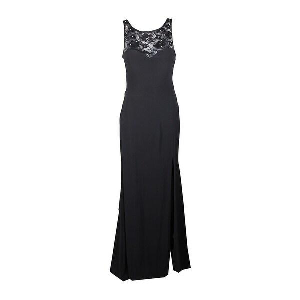 36bb5d5ff5c2 Shop X By Xscape Black Rhinestone Illusion Lace Gown 10 - Free ...
