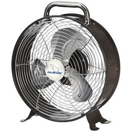 "Polar-Aire LF-9DF Retro Desk Fan, 9"", Metallic, 2 Speed"