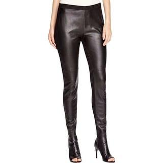 Eileen Fisher Womens Leggings Leather Comfort Waist
