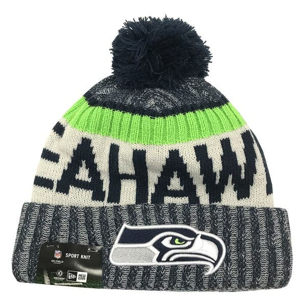 first look order biggest discount Shop New Era Seattle Seahawks Knit Beanie Cap Hat NFL 2017 On ...