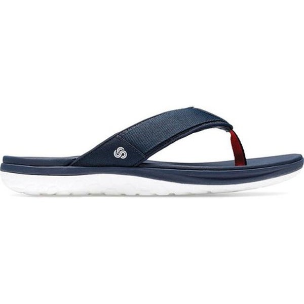 8c69a967e6c4 Shop Clarks Men s Step Beat Dune Thong Sandal Navy Textile - Free Shipping  Today - Overstock - 27346934