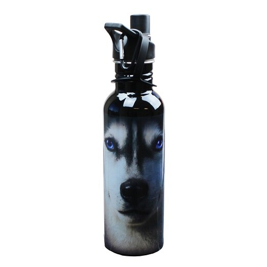 The Mountain Siberian Husky Face Water Bottle - Multi