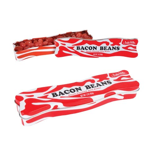 Accoutrements Archie McPhee Bacon Beans Bacon Flavored Jellybeans, Two (2), 3 oz Tins