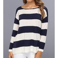 Joie Blue White Women's Size Small S Striped Knit Top Wool