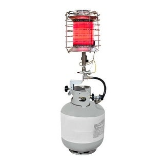 Dyna-Glo TT360DG  Propane Powered 40,000-BTU 360-Degree Tank Top Radiant Heater with Tip Over Safety Switch, 1,000-Square Foot