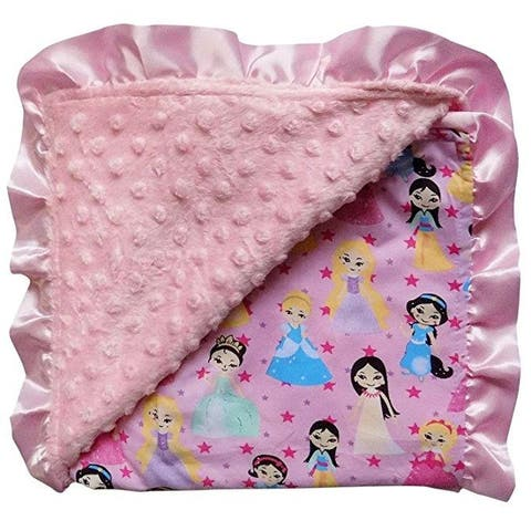 Textured Minky Dot Baby Infant Toddler Blanket with Satin Trim