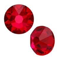 Swarovski Crystal, Round Flatback Rhinestone SS16 3.8mm, 50 Pieces, Scarlet