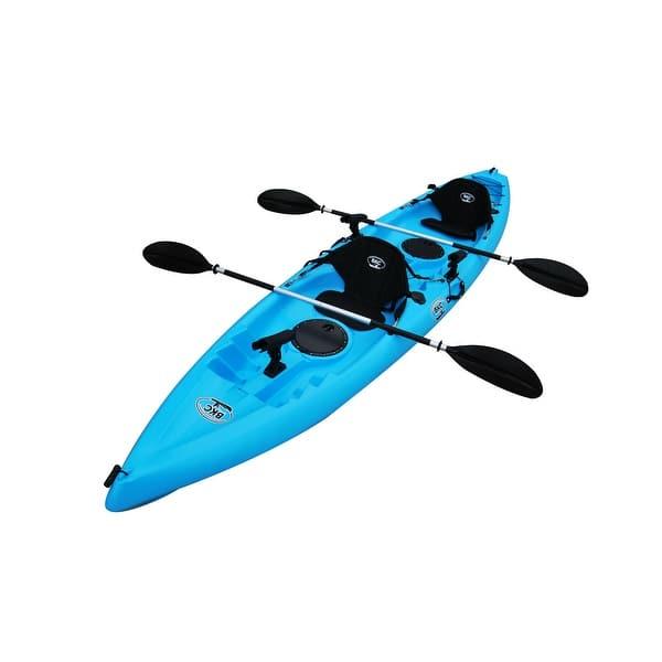 Shop Bkc Uh Tk181 12 5 Foot Sit On Top Tandem Fishing Kayak
