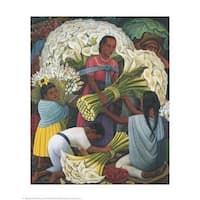 ''The Flower Vendor'' by Diego Rivera Museum Art Print (20 x 16 in.)