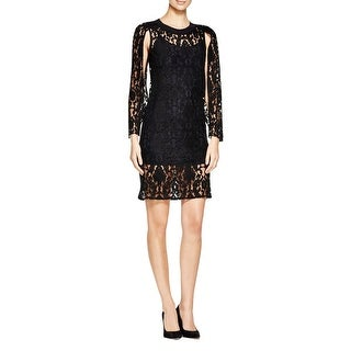 DKNY Womens Party Dress Lace Cape Sleeves