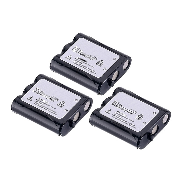 Replacement Battery For Panasonic KX-TG2257 Cordless Phones - P511 (850mAh, 3.6v, NiCD) - 3 Pack