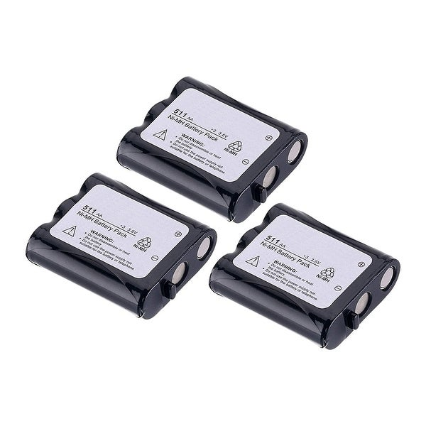 Replacement Battery For Panasonic KX-TG2215 Cordless Phones - P511 (850mAh, 3.6v, NiCD) - 3 Pack