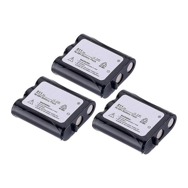Replacement Battery For Panasonic KX-TGA510M Cordless Phones - P511 (850mAh, 3.6v, NiCD) - 3 Pack