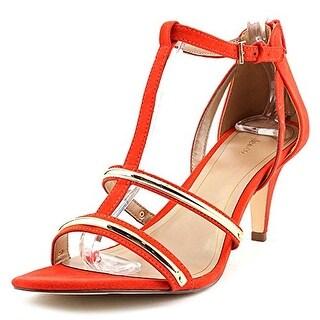 Style & Co Hughley Women Open Toe Synthetic Orange Platform Heel