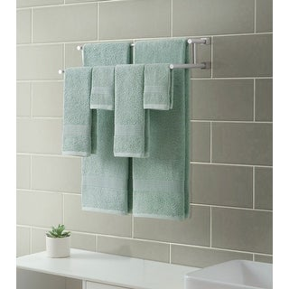 Downtown Collection Ribbed Luxury 6-Piece Towel Set, Dusty Sage