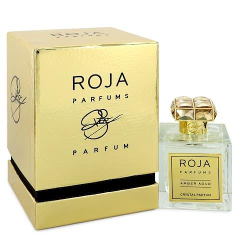 Roja Amber Aoud Crystal by Roja Parfums Extrait De Parfum Spray (Unisex) 3.4 oz For Women